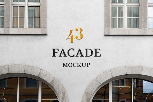 Maquette psd de façade