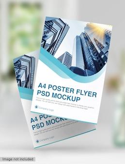 Maquette psd flyer affiche a4