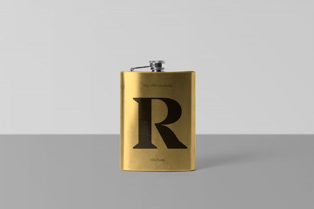 Maquette psd hipflask
