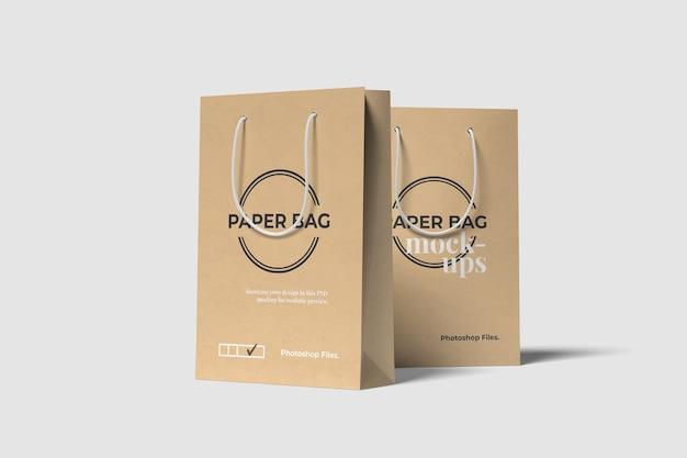 Maquette psd de sacs à provisions