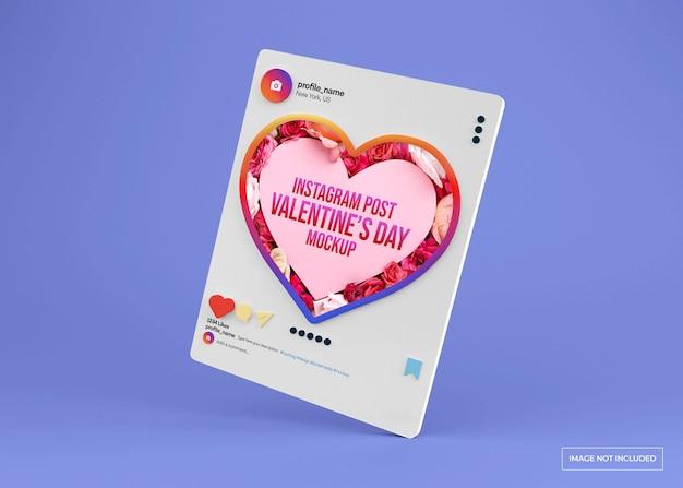 Maquette de publication sur les réseaux sociaux de la saint-valentin