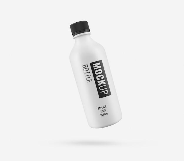 Maquette publicitaire de bouteille blanche réaliste