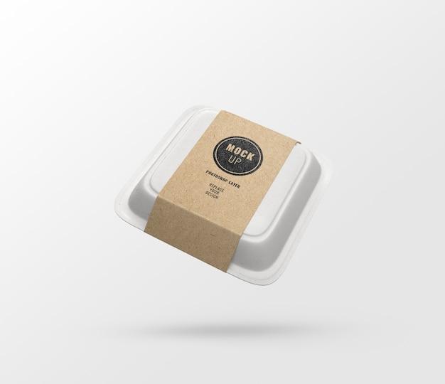 Maquette publicitaire de nourriture, rendu 3d