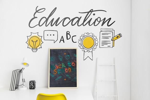 Maquette publicitaire pour la rentrée des classes