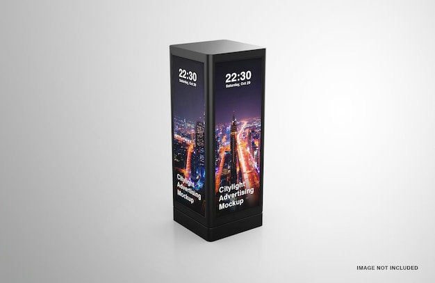 Maquette de publicité numérique led city light
