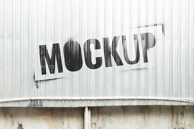Maquette de pulvérisation de pochoir mural en tôle réaliste