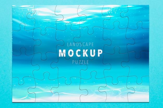 Maquette de puzzle océanique