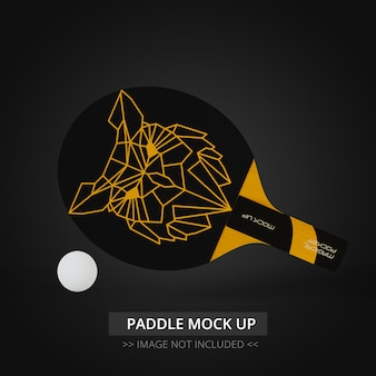 Maquette de raquette de tennis de table -