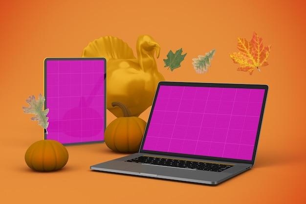 Maquette réactive pour thanksgiving