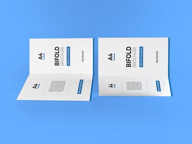 Maquette réaliste de brochures a4 pliantes