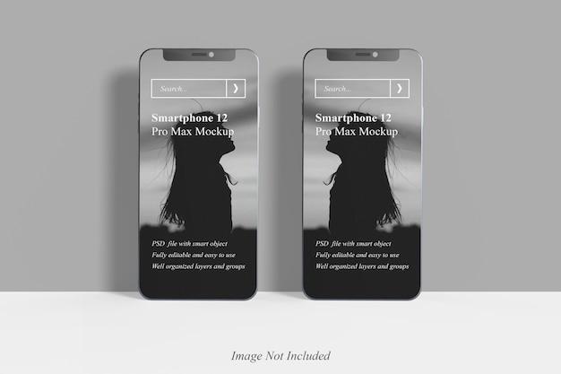 Maquette réaliste du smartphone 12 pro max