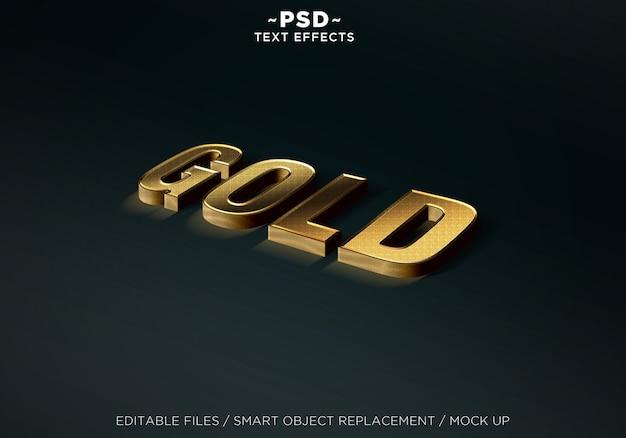 Maquette réaliste d'effets modifiables en or