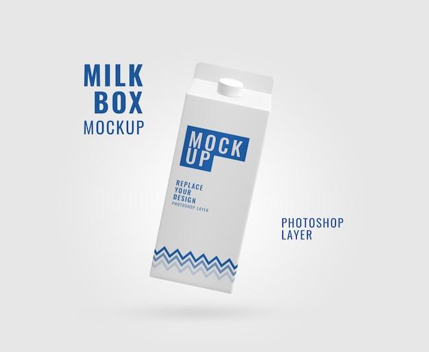 Maquette réaliste d'emballage de lait