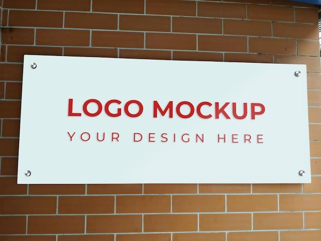 Maquette réaliste de logo de marque