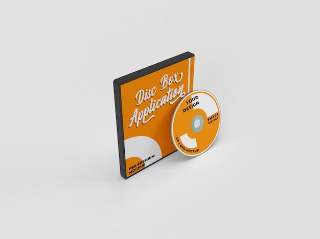 Maquette réaliste de paquet de couverture de cd et de disque