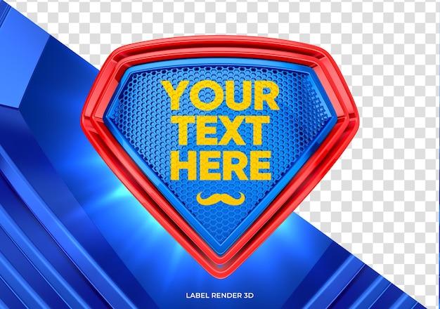 Maquette réaliste de rendu 3d de bouclier de super héros