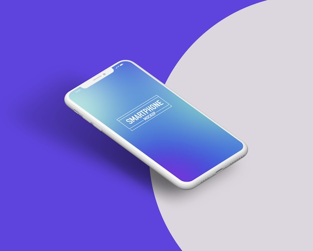Maquette réaliste de smartphone. maquette smartphone propre