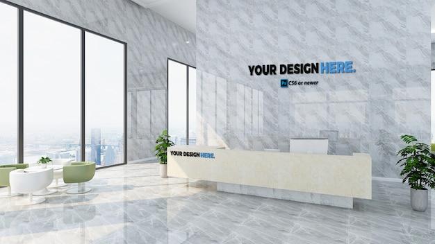 Maquette de la réception du bureau de l'entreprise