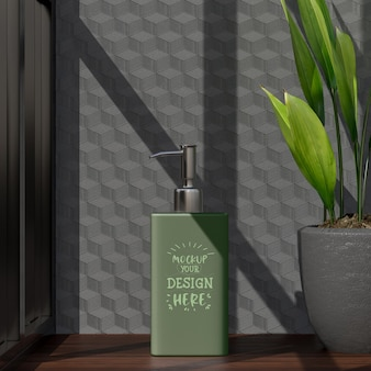 Maquette de récipient cosmétique pour crème, lotion, sérum, emballage de bouteille vierge de soin de la peau