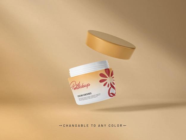 Maquette de récipient à crème