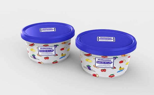 Maquette de récipient de nourriture en plastique