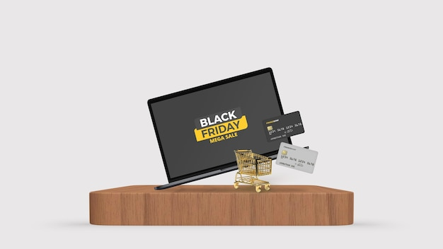Maquette de réduction du vendredi noir pour smartphone et tablette