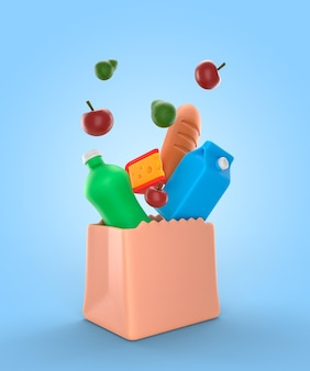 Maquette de rendu d'épicerie délicieuse