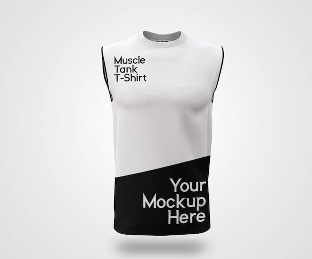 Maquette de réservoir musculaire showcase man