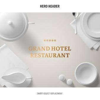 Maquette de restaurant d'en-tête.