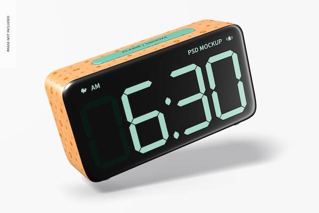 Maquette de réveil en bois, tombant