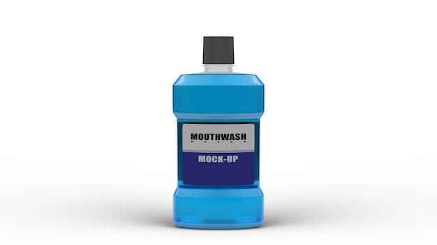 Maquette de rince-bouche conception d'emballage de rendu 3d