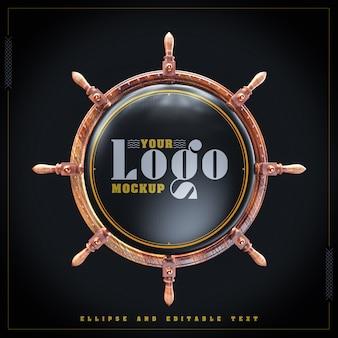 Maquette de roue navio pour votre logo