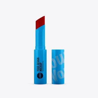 Maquette de rouge à lèvres sur un espace blanc