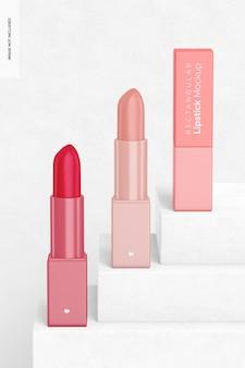 Maquette de rouges à lèvres rectangulaires