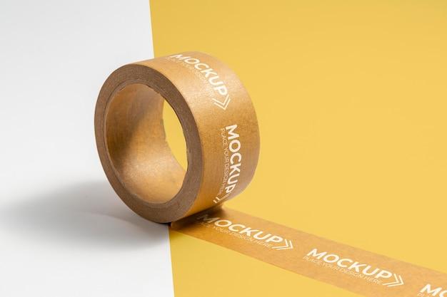 Maquette de ruban d'emballage avec espace de copie