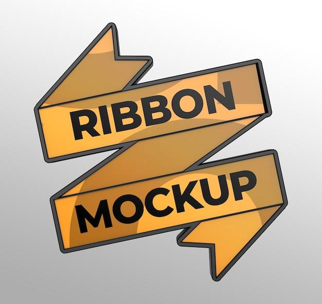 Maquette de ruban pour les présentations de marque et de publicité