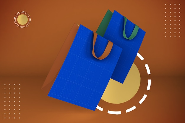 Maquette de sac abstrait