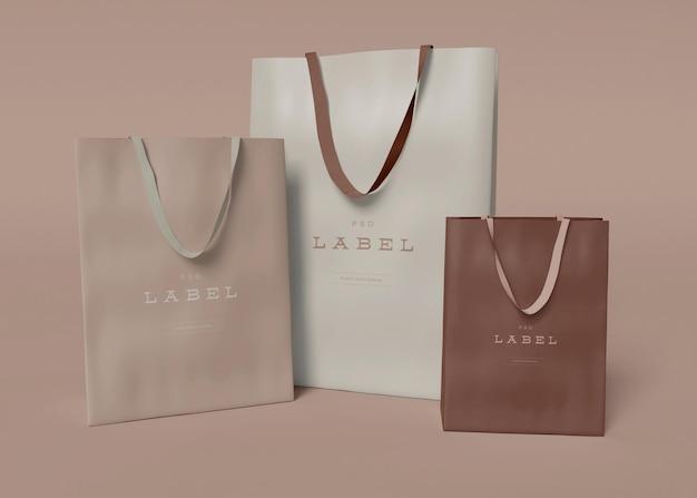 Maquette de sac cadeau en papier