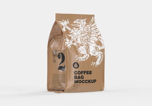 Maquette de sac de café kraft