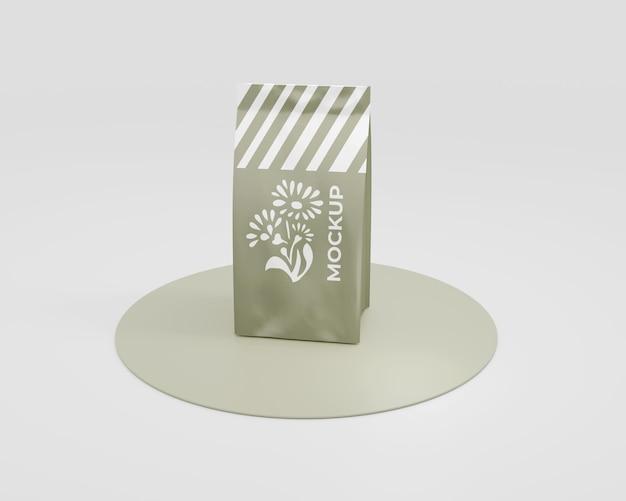 Maquette de sac à café en papier élégant