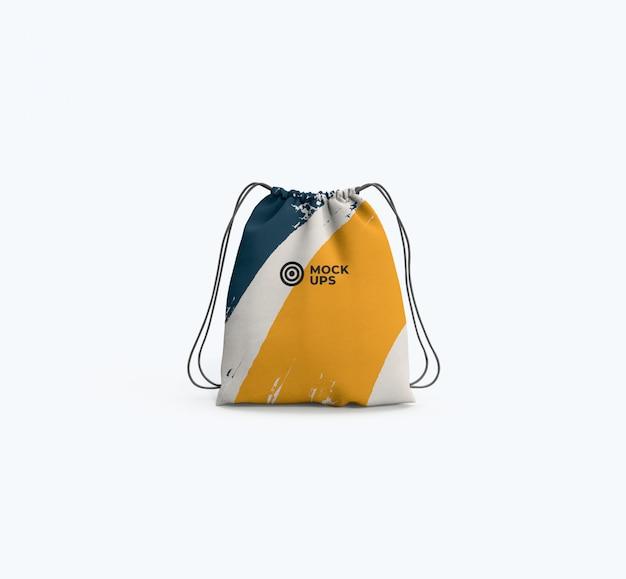 Maquette de sac à cordon