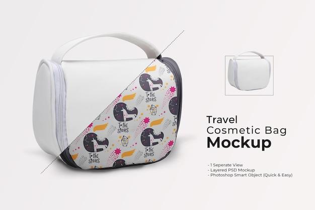 Maquette de sac cosmétique de voyage