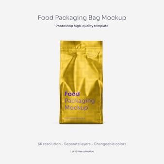 Maquette de sac d'emballage alimentaire