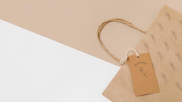 Maquette de sac d'emballage écologique