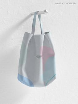 Maquette de sac fourre-tout en tissu