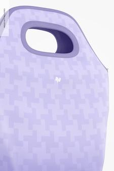 Maquette de sac à lunch, gros plan
