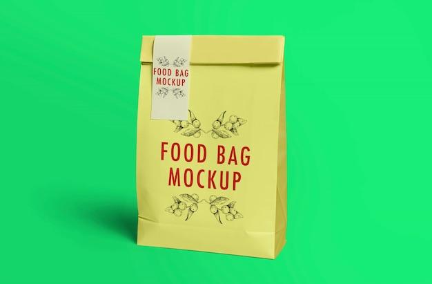 Maquette de sac de nourriture