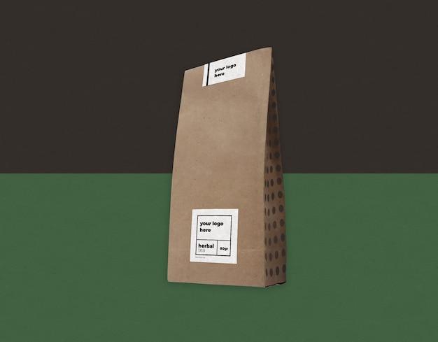 Maquette de sac de papier d'artisanat psd