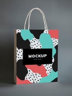 Maquette de sac en papier coloré