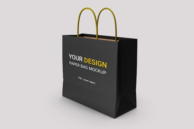 Maquette de sac en papier de luxe